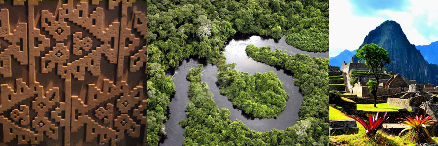 chan chan, amazon river, machu picchu